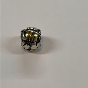 Pandora 14k gold / 925 letter m initial charm